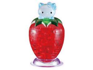 3D Crystal Puzzle - Hello Kitty on Strawberry: 45pcs