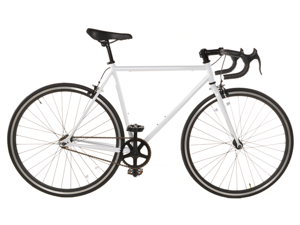 White Track Fixed Gear Bike Fixie Single Speed Road Bike - 54cm