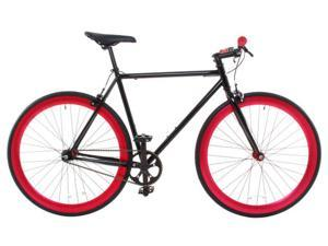 Vilano Rampage Fixed Gear Bike Fixie Single Speed Road Bike Black / Red Medium 54cm