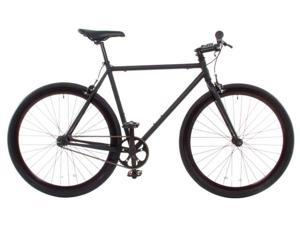 Vilano Rampage Fixed Gear Bike Fixie Single Speed Road Bike Matte Black Medium 54cm