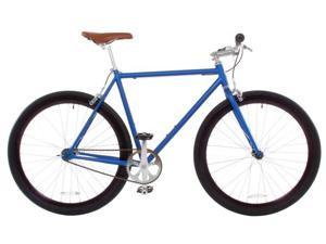 Vilano Rampage Fixed Gear Bike Fixie Single Speed Road Bike Matte Blue Medium 54cm