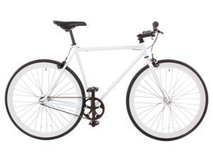 Vilano Rampage Fixed Gear Bike Fixie Single Speed Road Bike White Small 50cm