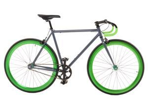 Vilano Attack Fixed Gear Bike Track Bike Grey / Green Large (58cm)