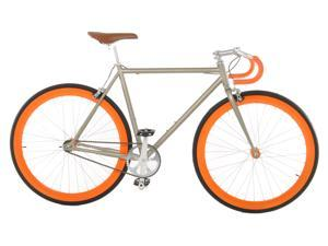 Vilano Attack Fixed Gear Bike Track Bike Champagne / Orange Small (50cm)