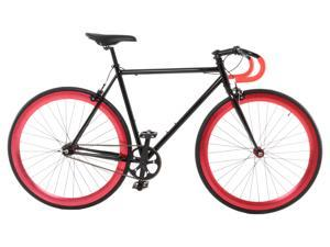 Vilano Attack Fixed Gear Bike Track Bike Black / Red Small (50cm)