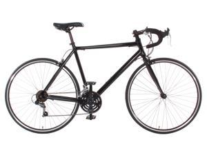 Aluminum Road Bike / Commuter Bike Shimano 21 Speed 700c Bicycle Black 58cm