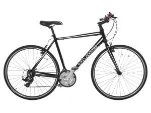 Vilano Performance Hybrid Bike 700c - 21 Speed Shimano Road Bike 54 cm Black