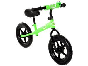 Childrens Balance Bike No Pedal Push Bicycle for Girls or Boys 12 in. Green