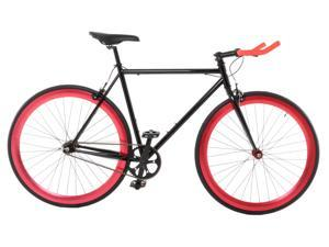 Vilano EDGE Fixed Gear /Single Speed Road Bike Black / Red 54cm