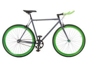 Vilano EDGE Fixed Gear /Single Speed Road Bike Grey / Green 54cm