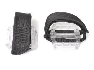 Fixed Gear Fixie Pedals Foot Strap - Pedals and Straps Clear