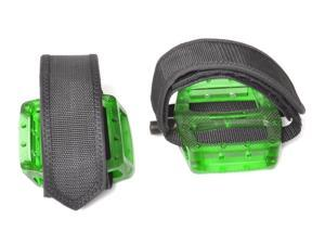 Fixed Gear Fixie Pedals Foot Strap - Pedals and Straps Green