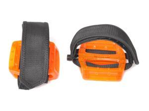 Fixed Gear Fixie Pedals Foot Strap - Pedals and Straps Orange