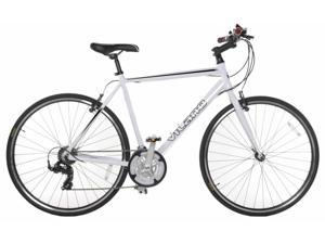 Vilano Performance Hybrid Bike 700C 21 Speed Shimano Road Bike 50 cm White