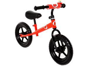 Childrens Balance Bike No Pedal Push Bicycle for Girls or Boys 12 in. Red