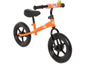 Childrens Balance Bike No Pedal Push Bicycle for Girls or Boys 12 in. Orange