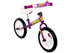 Childrens Balance Bike No Pedal Push Bicycle for Girls or Boys 12 in. Purple