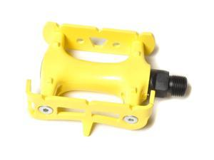 "Fixed Gear Platform Pedals 9/16"" - Many Colors Yellow"