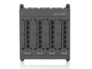 Leviton 476TM-524 Twist & Mount Patch Panel, 24 CAT 5e ports