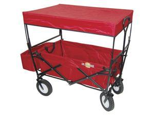 On the Edge Marketing 900124 3-Step Folding Wagon with Canopy
