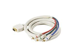 Steren 253-506IV RGB SVGA Video to Component Video Cable, Ivory, 6 Feet