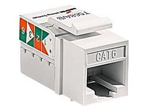 Cooper Wiring Devices 5546-6LA Cat 6 RJ45 Modular Data Jack Insert, Light Almond