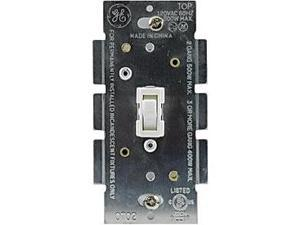 GE 18025 Toggle-Style Single-Pole Dimmer Switch, White