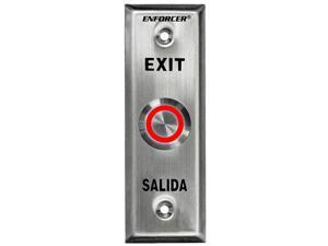 "SECO-LARM Enforcer Slimline Request-to-Exit Plate with 1"" Illuminated Red/Green"