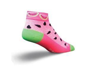 SockGuy Women's 1in Watermelons Cycling/Running Socks (S/M)