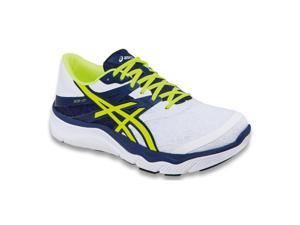 Asics 2015/16 Men's 33-M Running Shoe - T538N.0104 (White/Flash Yellow/Navy - 8.5)