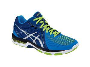 Asics 2016 Men's Gel-Netburner Ballistic MT Volleyball Shoes - B508Y.5093 (Navy/Silver/Electric Blue - 6)