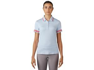 Adidas Golf 2017 Women's 3-Stripes Tipped Short Sleeve Polo Shirt (Easy Blue - XS)
