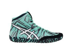 Asics 2017 Men's Aggressor 3 L.E. Geo Wrestling Shoe - J602Y.3801 (Cockatoo/White/Saphire - 12)