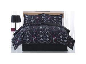 Bed Ink Rock Anthem F/Q XL Comforter w/Shams