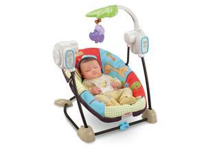 Fisher-Price Luv U Zoo Space Saver Swing & Seat