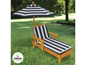 KidKraft Outdoor Wooden Chaise w/ Umbrella
