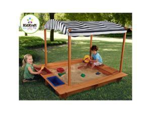 KidKraft Wooden Outdoor Sandbox with Canopy