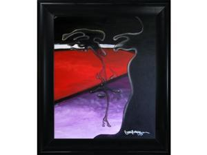"Men with Black Satin King Frame - Eco Friendly - 27"" X 31"" - Framed Canvas Art"