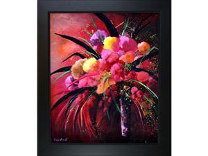 """OverstockArt Still Life 67211 with New Age Wood Frame - Black Finish - 24.75"""" X 28.75"""" - Framed Canvas Art"""