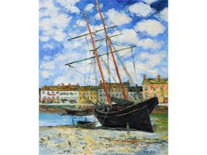 Monet Paintings: Boat at Low Tide, FeCamp 1881 - Hand Painted Canvas Art