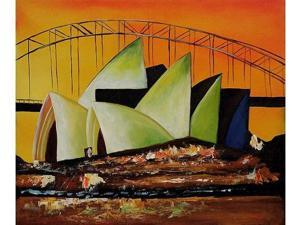 Famous Cities: Sydney's Opera House - Hand Painted Canvas Art