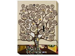 Klimt Paintings: Tree of Life Gallery Wrap - Hand Painted Canvas Art