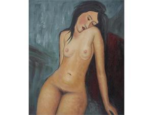Modigliani Paintings: Female Nude - Hand Painted Canvas Art