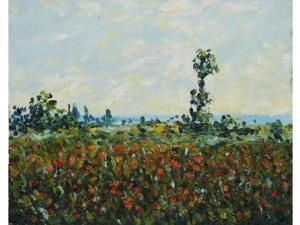 Monet Paintings: The Fields of Poppies - Hand Painted Canvas Art