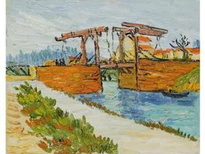 Van Gogh Paintings: Langlois Bridge at Arles with Road Alongside the Canal - Hand Painted Canvas Art