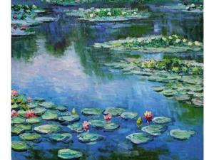 Monet Paintings: Water Lilies - Hand Painted Canvas Art