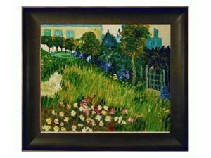 Van Gogh Paintings: The Garden of Daubigny with Veine D' Or Bronze Scoop - Bronze and Rich Brown Finish - Hand Painted Framed ...