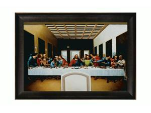 The Last Supper with Veine D' Or Bronze Scoop - Bronze and Dark Brown Finish - Hand Painted Framed Canvas Art