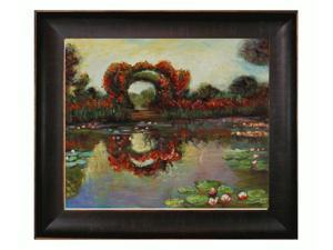 Monet Paintings: Blutentore in Giverny with Veine D' Or Bronze Scoop - Bronze and Rich Brown Finish - Hand Painted Framed ...