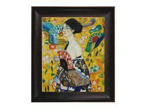 Klimt Paintings: Signora con Ventaglio Interpretation with Veine D' Or Bronze Scoop - Bronze and Rich Brown Finish - Hand ...